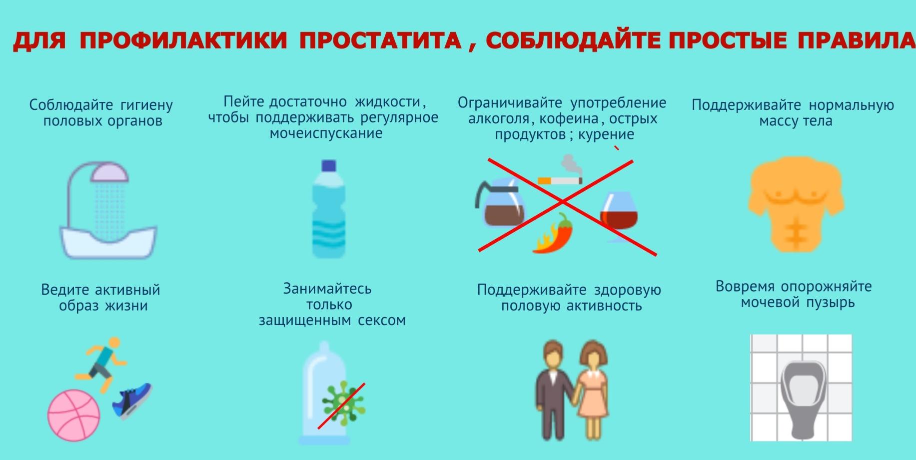 Для профилактики простатита, соблюдайте простые правила